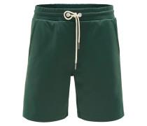 Shorts dunkelgrün/offwhite