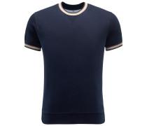 R-Neck Kurzarm-Sweatshirt dark navy