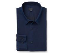 Casual Hemd schmaler Kragen navy