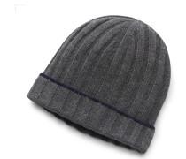 Cashmere Mütze dunkelgrau