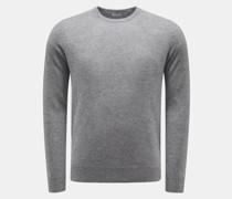 HerrenCashmere Rundhals-Pullover grau