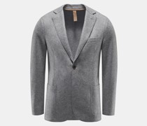 Jersey-Blazer grau