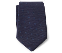 Krawatte navy/graublau gemustert