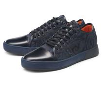 Sneaker navy/schwarz gemustert
