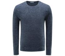 Frottee R-Neck Sweatshirt 'Maximilian' dark navy gestreift