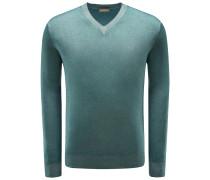 V-Neck Pullover grün