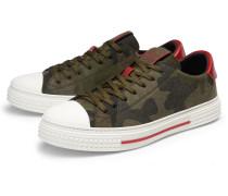 Sneaker oliv gemustert