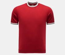 HerrenRundhals-Kurzarm-Pullover rot