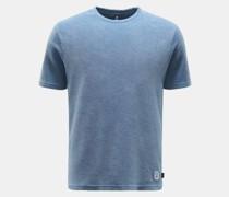 HerrenFrottee Rundhals-T-Shirt rauchblau