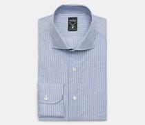Business Hemd 'Mivara Tailor Fit' Haifisch-Kragen graublau/weiß