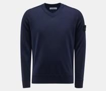 HerrenV-Ausschnitt-Pullover navy