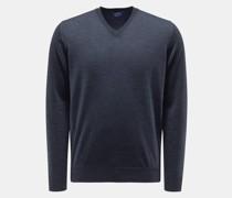 HerrenFeinstrick V-Ausschnitt-Pullover dark navy