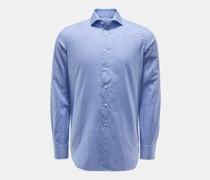 HerrenCasual Hemd Haifisch-Kragen dunkelblau/weiß