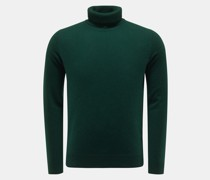 HerrenCashmere Rollkragenpullover dunkelgrün