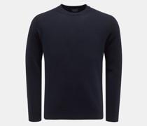 HerrenRundhals-Pullover navy