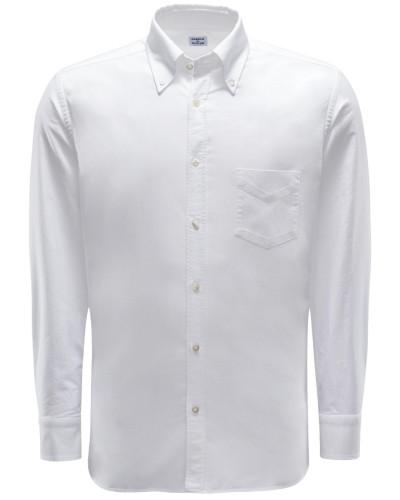 Oxfordhemd Button-Down-Kragen weiß