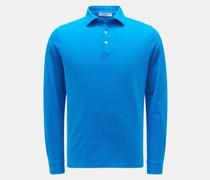HerrenLongsleeve-Poloshirt blau
