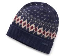 Woolrich - Mütze dunkelblau gemustert