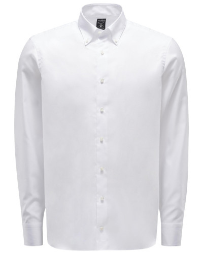 Oxfordhemd 'Malin' Button-Down-Kragen weiß
