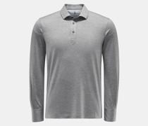 HerrenLongsleeve-Poloshirt grau