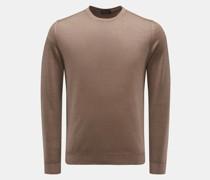 HerrenFeinstrick Rundhals-Pullover braun
