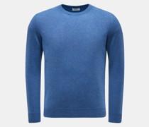 HerrenCashmere Rundhals-Pullover graublau