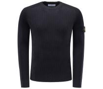 R-Neck Pullover schwarz