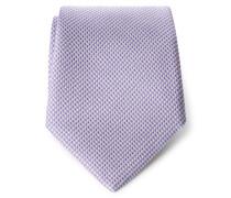 Seidenkrawatte violett kariert