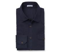 Casual Hemd schmaler Kragen dunkelblau