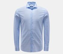 HerrenCasual Hemd 'Sean' Haifisch-Kragen hellblau/weiß