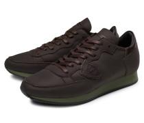 Sneaker 'Tropez Shearling' dunkelbraun