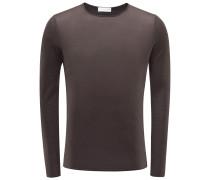 Cashmere R-Neck Pullover 'David' dunkelbraun