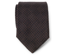 Krawatte dunkelbraun/braun gemustert