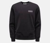 Rundhals-Sweatshirt 'Hugh' schwarz