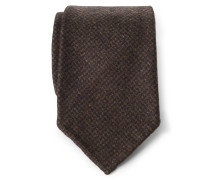 Krawatte dunkelbraun gemustert
