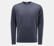 HerrenMerino Feinstrick-Pullover graublau