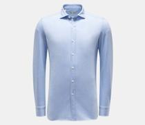 HerrenJersey-Hemd 'Capri' Haifisch-Kragen hellblau