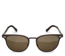 Sonnenbrille 'Sheldrake Metal' dunkelbraun/braun