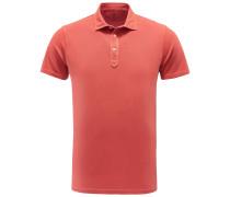 Jersey-Poloshirt hellrot