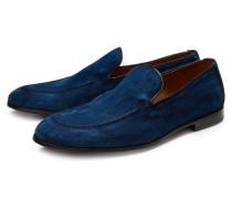 Denim-Loafer dunkelblau
