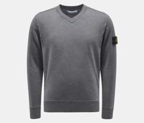 HerrenV-Ausschnitt-Pullover dunkelgrau