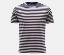 HerrenRundhals-T-Shirt navy/graubraun