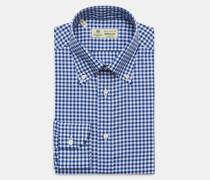 HerrenBusiness Hemd 'Gable' Button-Down-Kragen navy/weiß