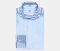 HerrenBusiness Hemd Haifisch-Kragen blau/weiß