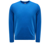 Cashmere Rundhals-Pullover blau