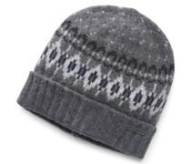 Woolrich - Mütze grau gemustert
