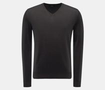 HerrenFeinstrick V-Ausschnitt-Pullover anthrazit