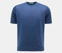 HerrenRundhals-Kurzarmpullover graublau