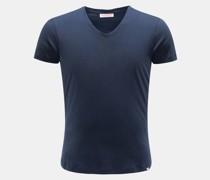 HerrenV-Neck T-Shirt navy