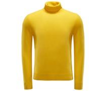 Cashmere Rollkragenpullover gelb